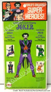 1974 Mego 1st Issue Joker Backside