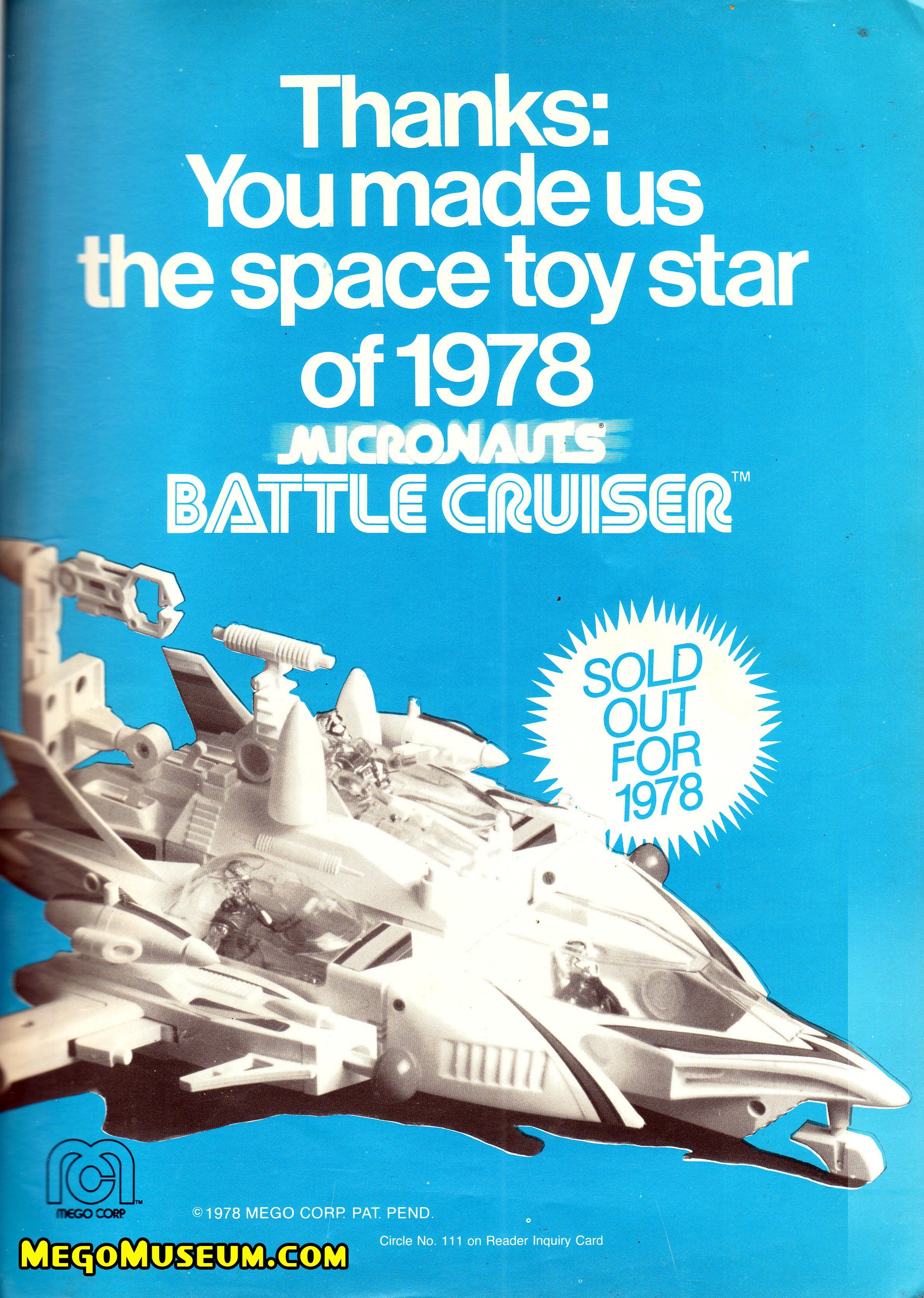 Mego Micronauts Star Cruiser Advert