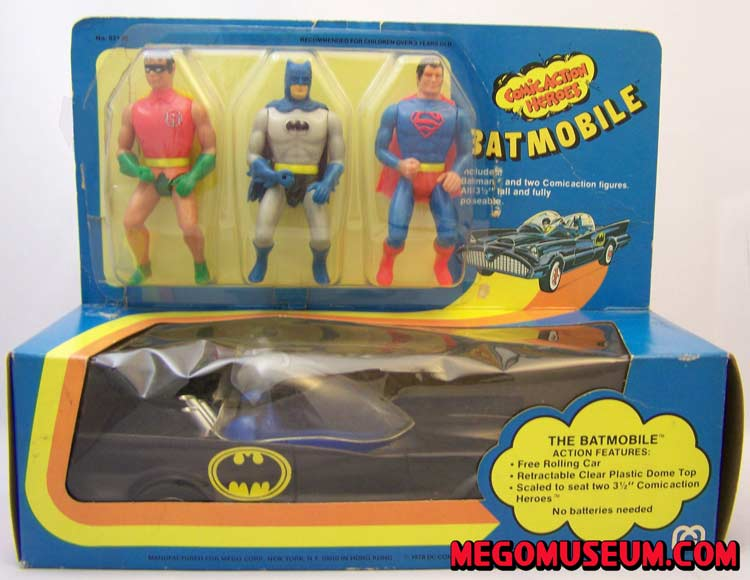 Mego Comic Action Heroes Batmobile Gift Set