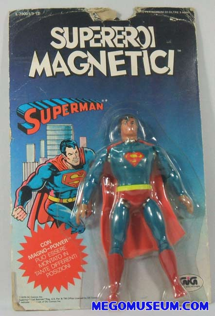 magnetic Superman mint on card