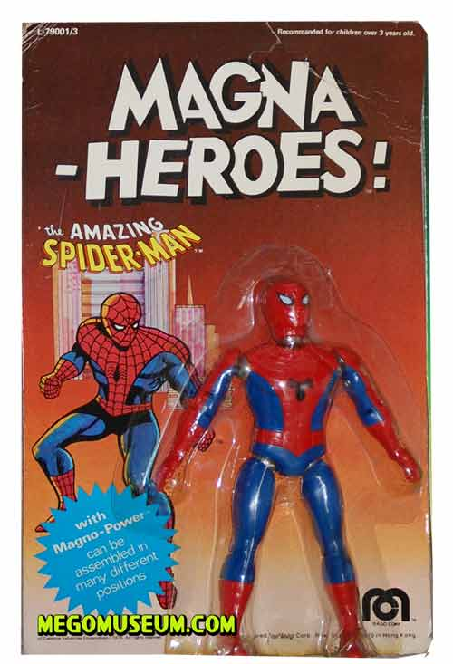 magnetic Spiderman mint on card