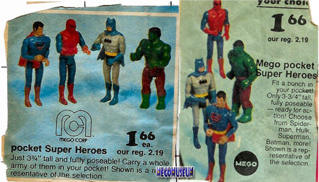 Newspaper clippings of Mego Pocket Hero ads courtesy of Kolin Erb