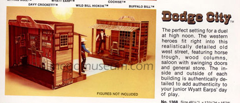 Mego proposed a Dodge city playset for the American West Line