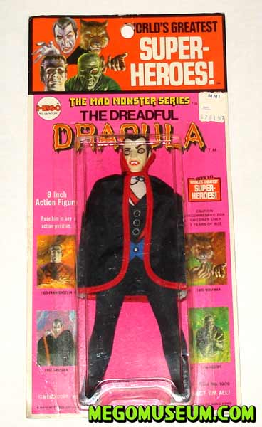 Mego Dracula on a Kresge card