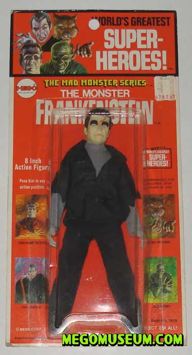 Mego Frankenstein on a Kresge card