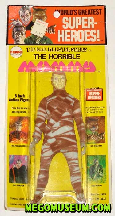 Mego Mummy on a Kresge card