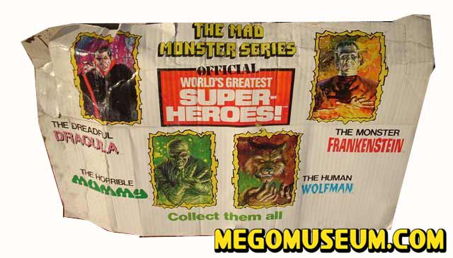 Mego Mad Monsters Display Header Card