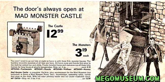 Mego Mad Monsters Castle catalog page