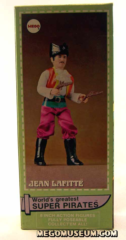 Mego Jean LaFitte Box back