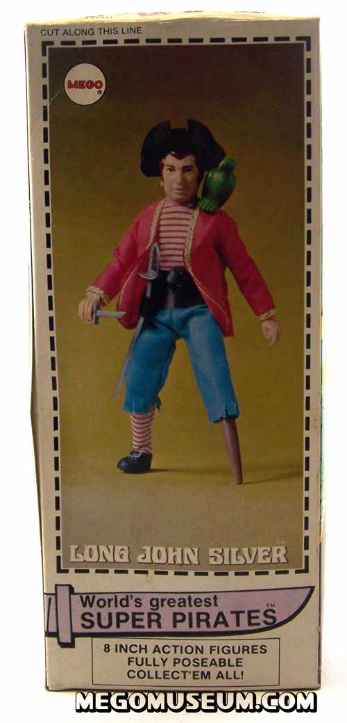 Mego Long John Silver Box back