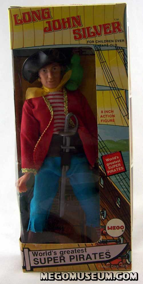 Mego Long John Silver Window Box