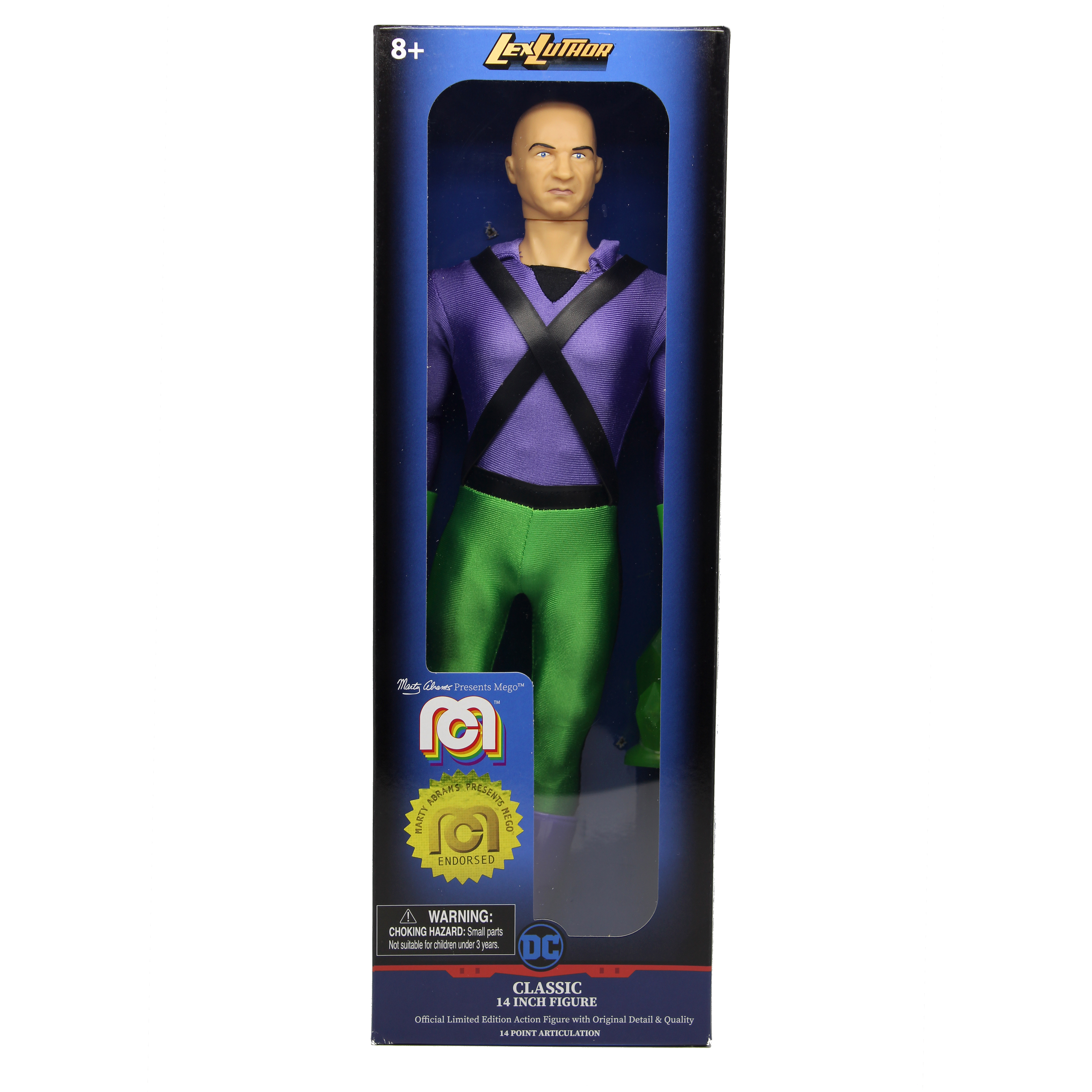 "Package Wear General Zod /& Lex Luthor Action Figure 14/"" Lot of 2 Mego"