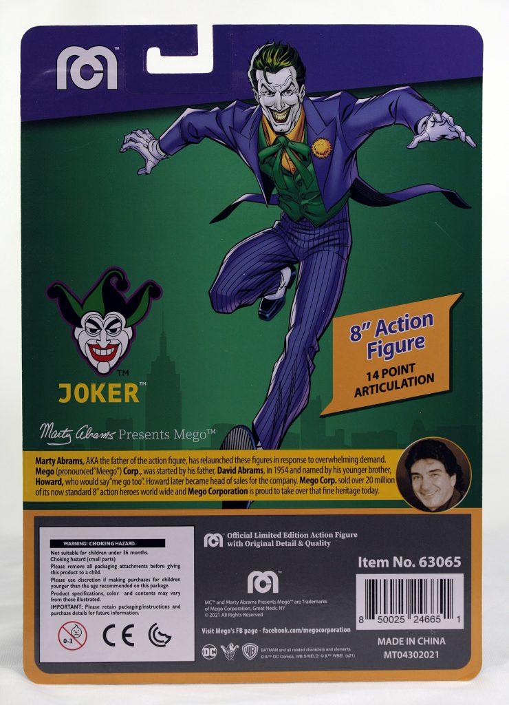 Mego Joker Card Back