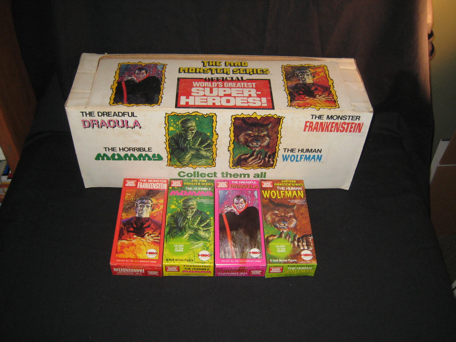 Mego Mad Monsters Display Box