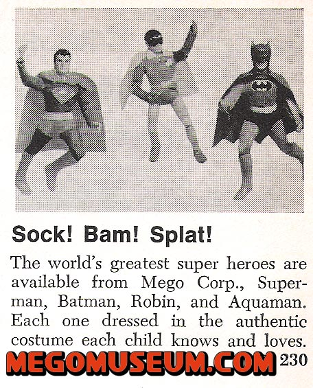 Mego Superheroes from 1973