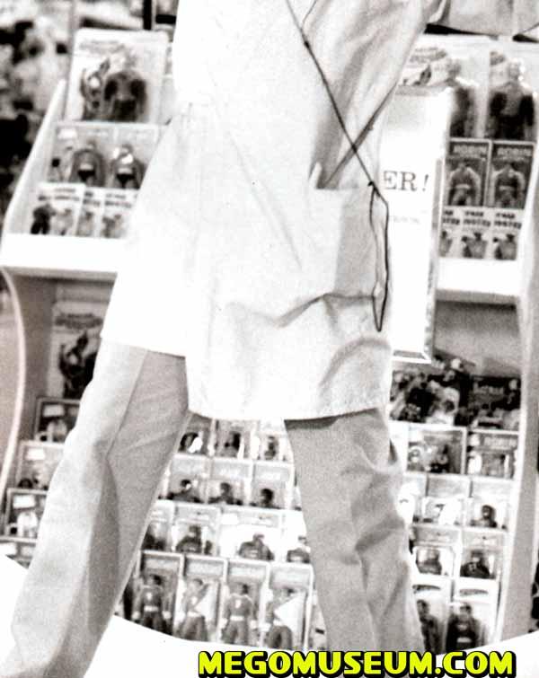 Richard Pryor visits a Mego display