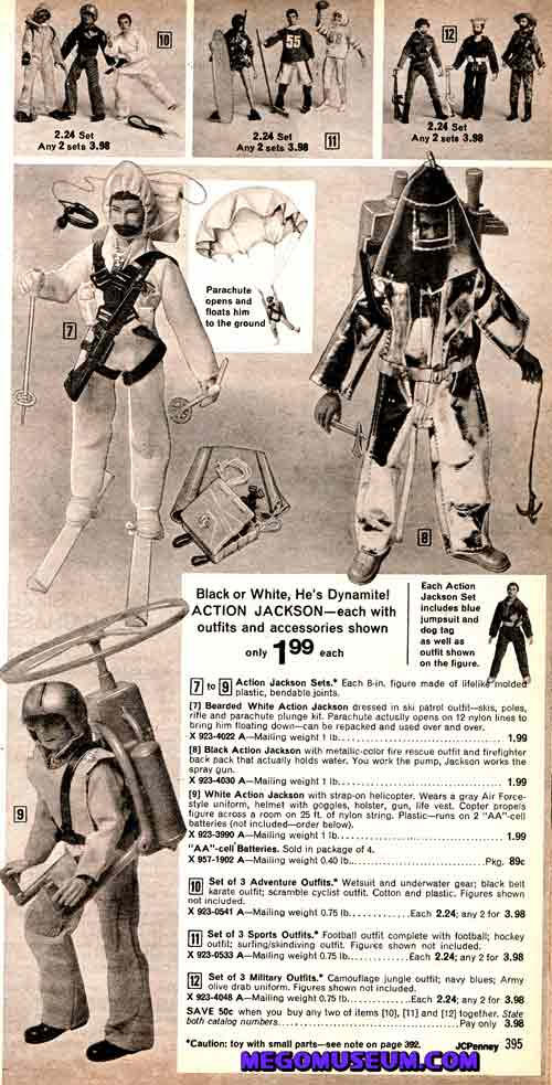 1973 Action Jackson catalog spread