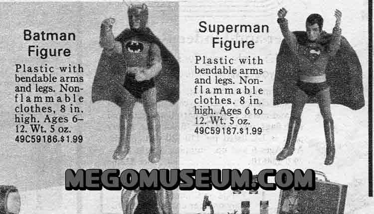 1973 Mego Superheroes catalog spread
