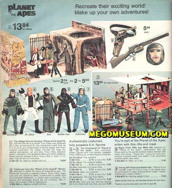 mego apes in the JC Penney catalog