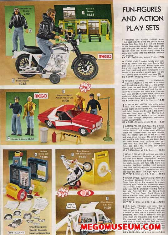 fonzie and starsky and hutch mego figures