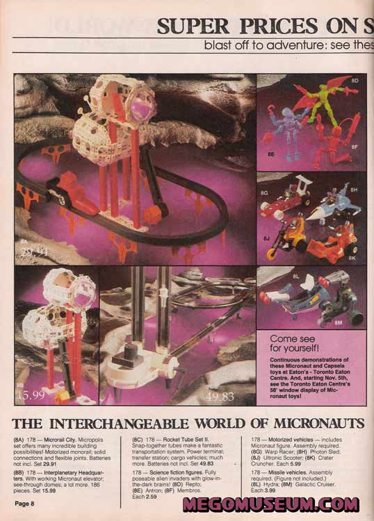 mego micronauts in the 1979 eatons flier