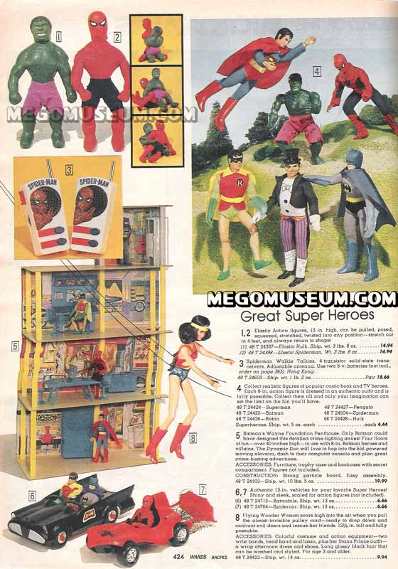 mego superheroes in the 1979 wards catalog