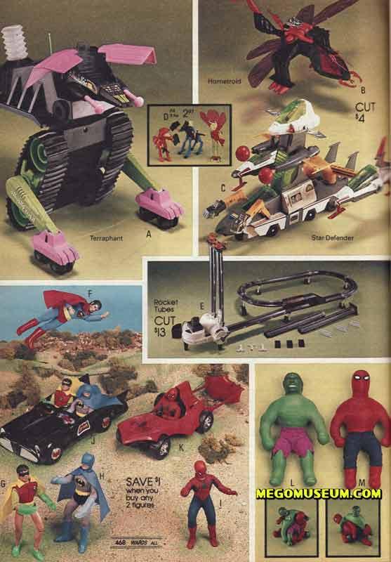 mego superheroes, elastic heroes and micronauts