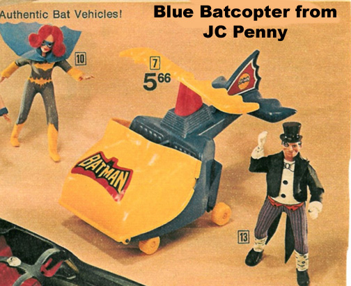 this blue version of the Mego Batcopter never happend