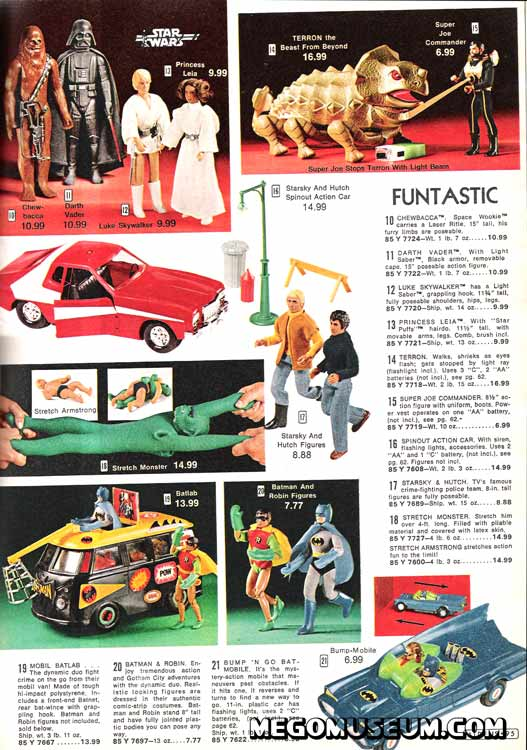mego superheroes in the aldens catalog