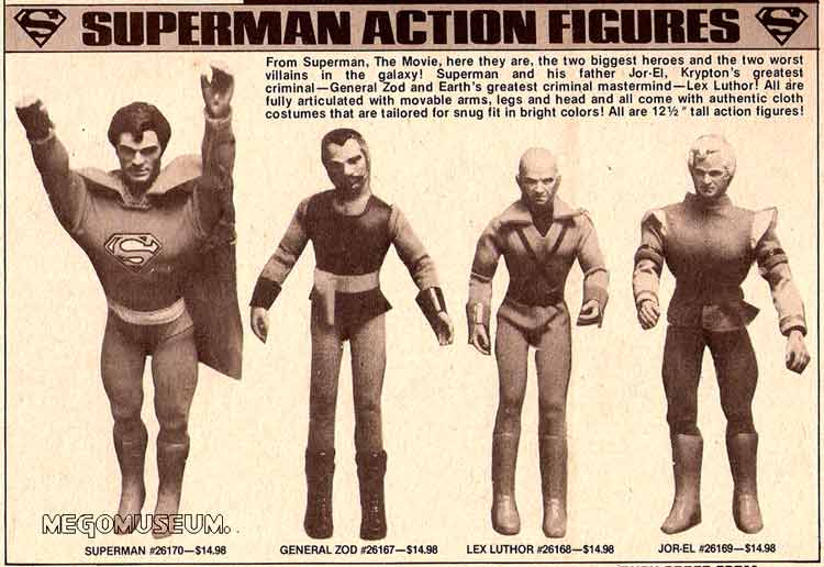 Mego Superman the Movie figures from 1979