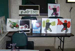 Some of the Amazing items that Ray brought to Mego meet included original artwork and production designs