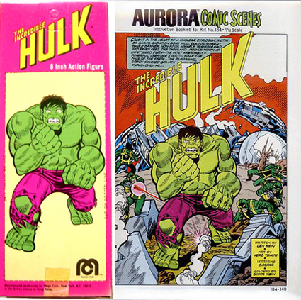 Aurora Model Hulk Art