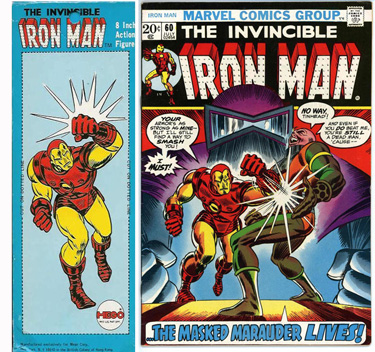 July 1973 Iron Man art
