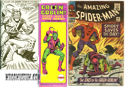 Green Goblin Mego art source Spiderman #40