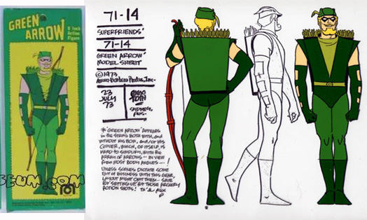 Mego Green Arrow Box was based on the artwork of Alex Toth