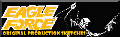 the original 1982 Mego Eagle Force production sketches