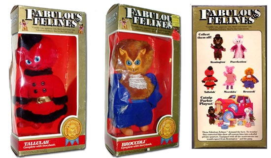 Fabulous Felines was a toyline produced by PAC in conjuction with Martin Abrams