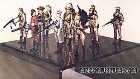 The original Mego prototypes for the Eagle Force