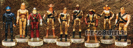 the 1982 Mego Eagle Force line up from the Catalog