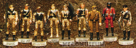 The 1982 Eagle Force Line up from the Mego Catalog