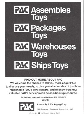 Late 70's ad for PAC Packaging