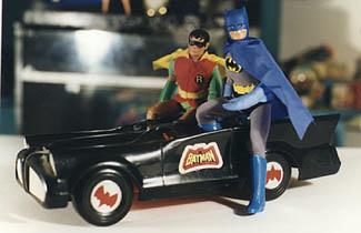 Batman, Robin and the Batmobile