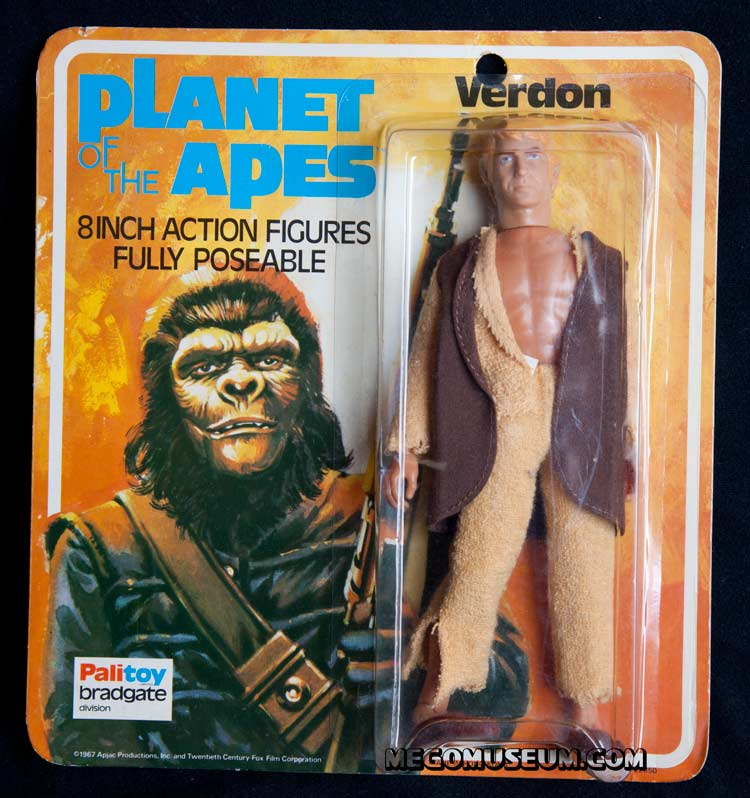 Mego Alan Verdon on UK Palitoy Bradgate Card Planet of the Apes