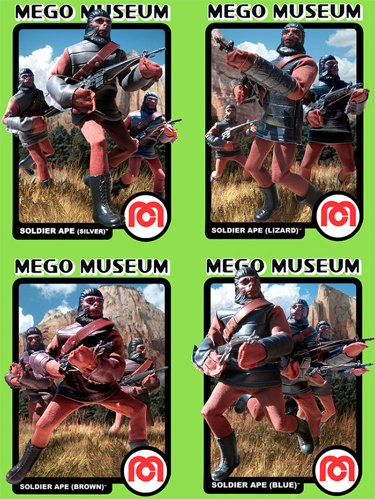 Mego Planet of the Apes Solidiers