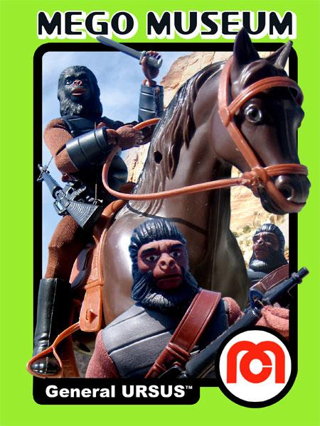 Mego General Ursus Trading Card Art