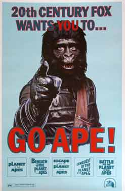 Mego promotional poster for the Planet of the apes movie marathon