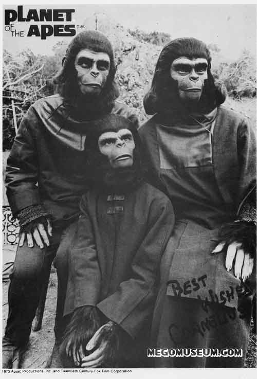 Mego promotional photo for Planet of the Apes
