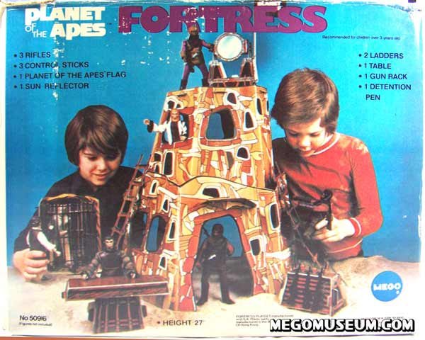 Mego boxed Planet of the Apes Fortress playset
