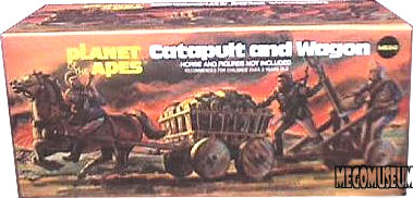 US Packaging for the Mego Planet of the Apes Catapult and Wagon set