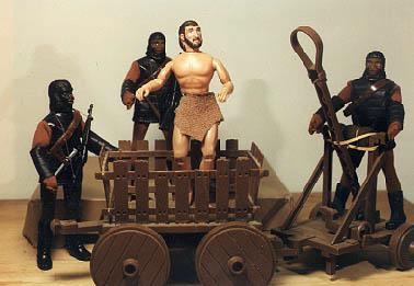 Mego Planet of the Apes Catapult and Wagon set